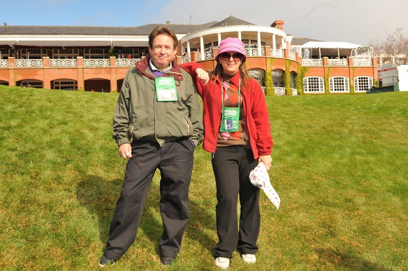 Jill with Bob Buttita at the former World Golf Challenge