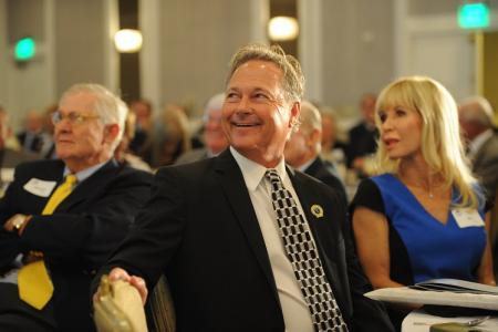 John Cook at the Hall of Fame ceremony