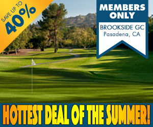 SCGA Members save up to 40% at Brookside GC