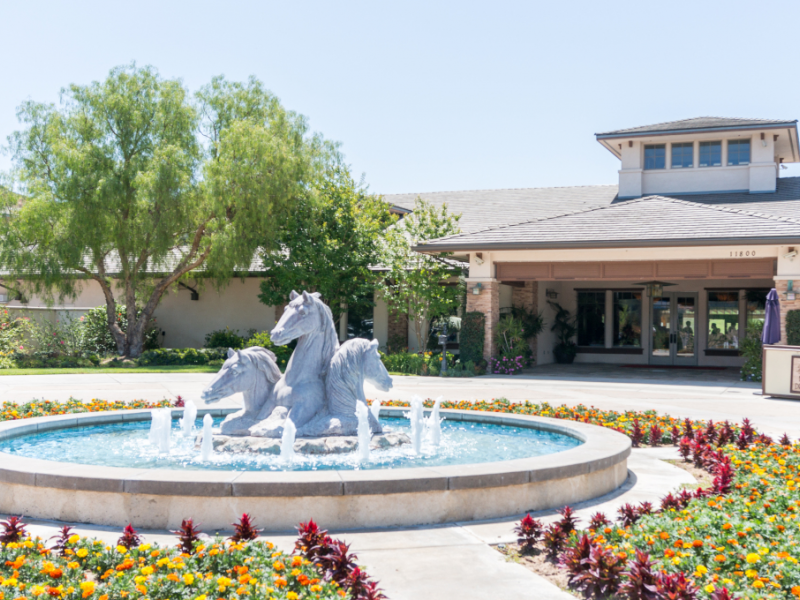 Moorpark cc front fountain