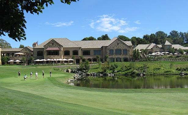 Big canyon hole 9 with clubhouse